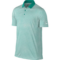 Nike Golf Victory Mini Stripe Polo - Rio Teal/White